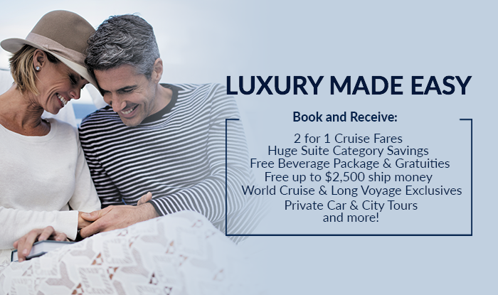 Luxury Made Easy - Up to Triple Amenities & Cruise Perks on all Voyages