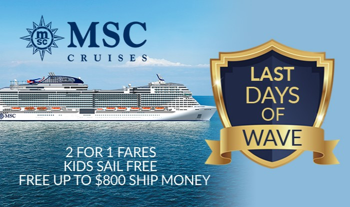 MSC Cruises Last Days of Wave Sale