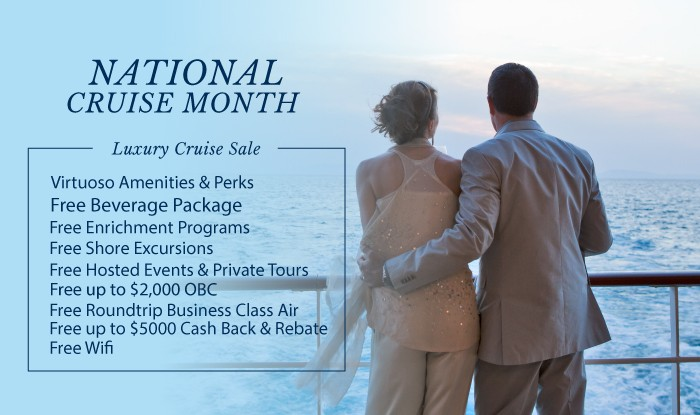 National Cruise Month! Luxury Cruise Sale