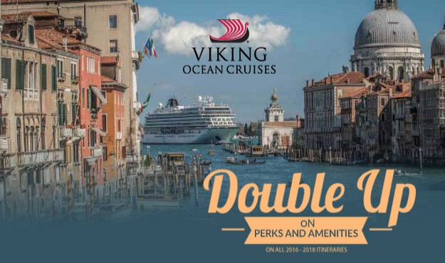 Never seen before DOUBLE PERKS & AMENITIES on Viking Ocean Cruises