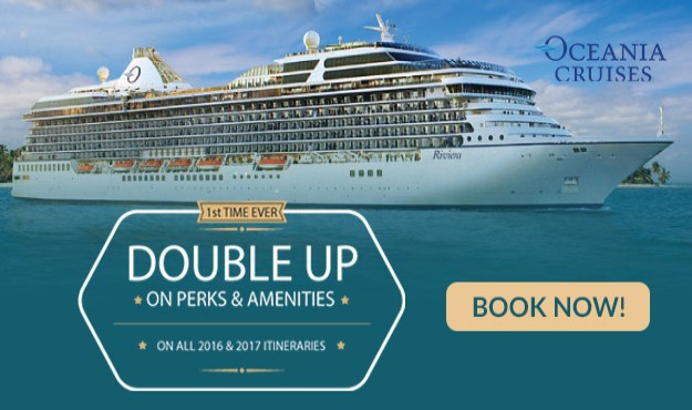 OCEANIA DEAL ALERT! DOUBLE AMENITIES AND BONUS PERKS ON ALL ITINERARIES