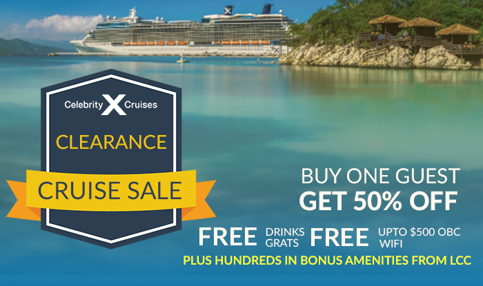 ONCE IN A LIFETIME CELEBRITY CLEARANCE CRUISE SALE