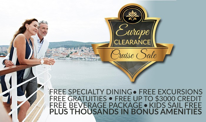 Once in a lifetime Europe Clearance Cruise Sale