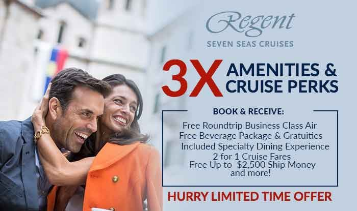 Regent Cruises 3X Perks + Unpublished Fares