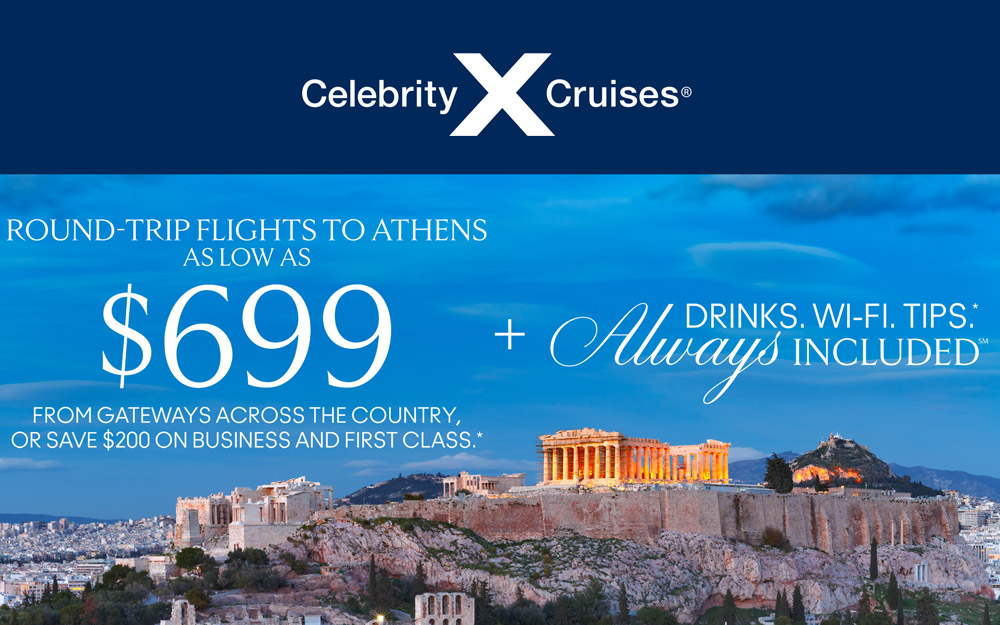 Round Trip Flights to Athens as Low as $699 + Drinks. Wi-Fi. Tips*