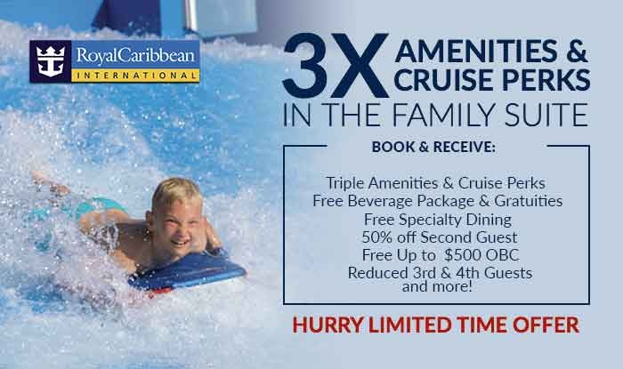 Royal Caribbean 3X Amenities & Cruise Perks