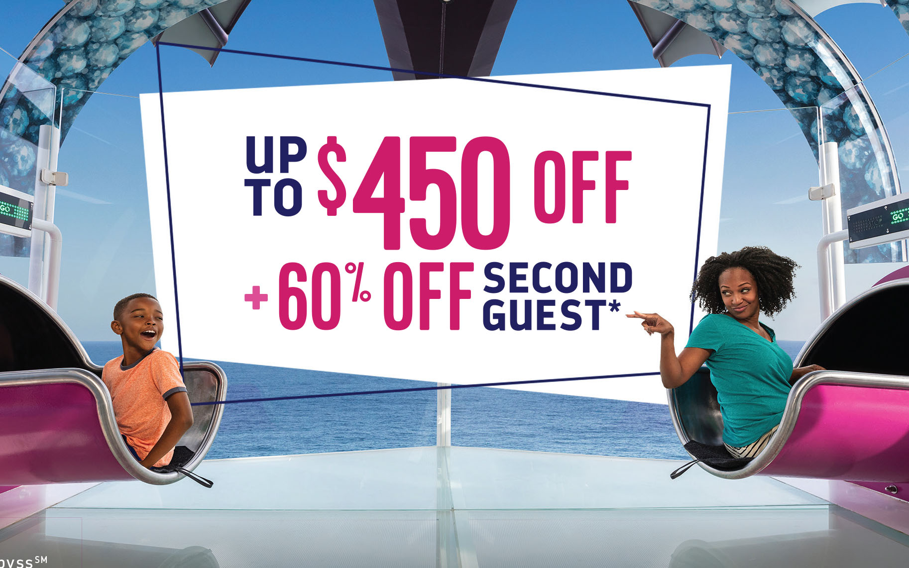 Royal Caribbean - 60% OFF Second Guest + Up to $450 OFF