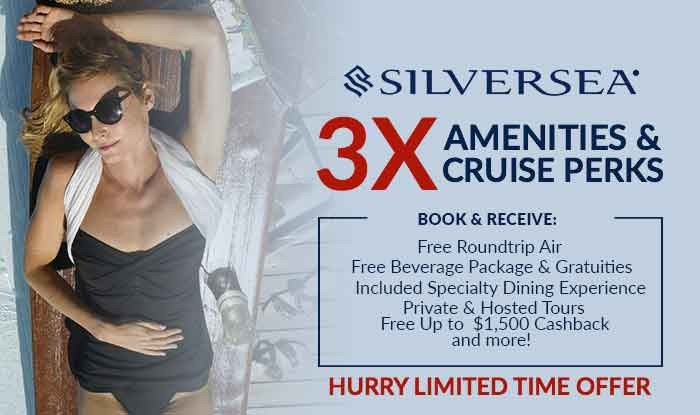Silversea Cruise Sale! 3x Perks + Free air