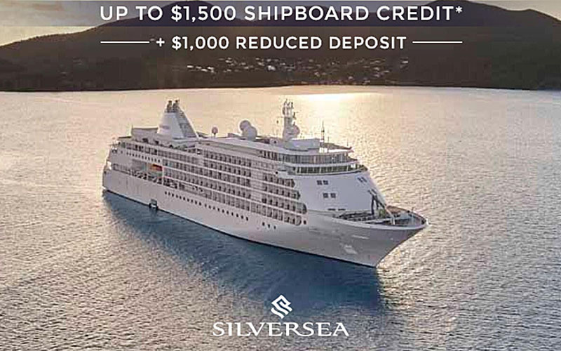Silversea Sale - Up to $1,500 SBC + $1,000 Reduced Deposit + FREE Economy Class Air on Select Sailings*