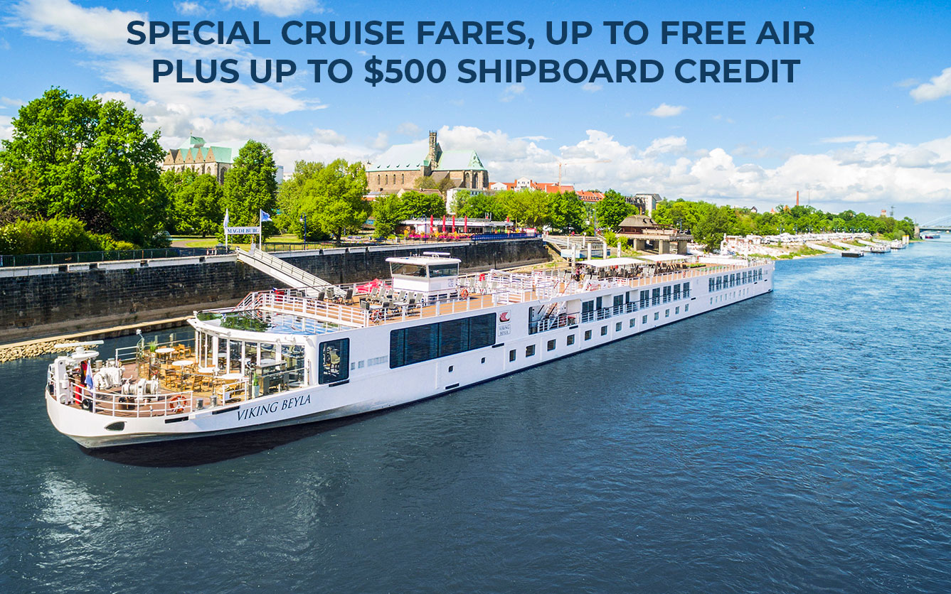 Special Cruise Fares, Up to FREE Air plus up to $500 Shipboard Credit