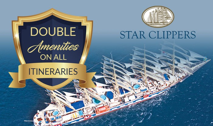 Star Clippers Cruise Sale Double Amenities on all Reservations