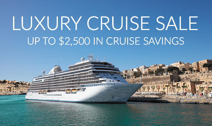 Suite Deals! Luxury Cruise Sale