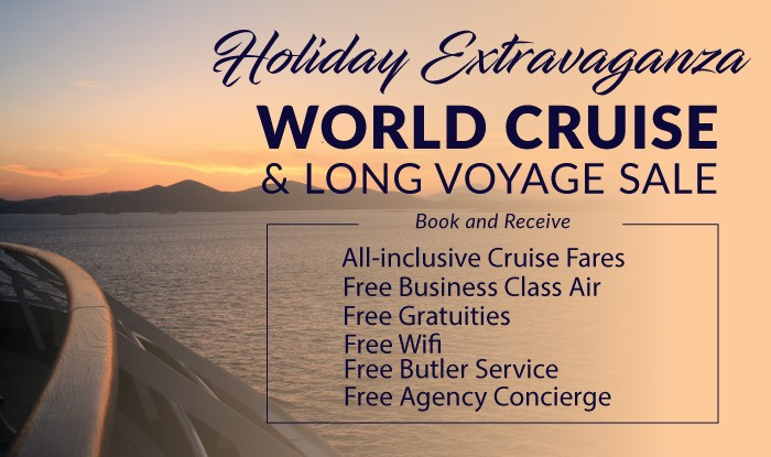 THE BEST WORLD CRUISE SALE