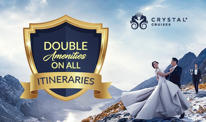 Value Rich Amenities on all Crystal Cruise Itineraries