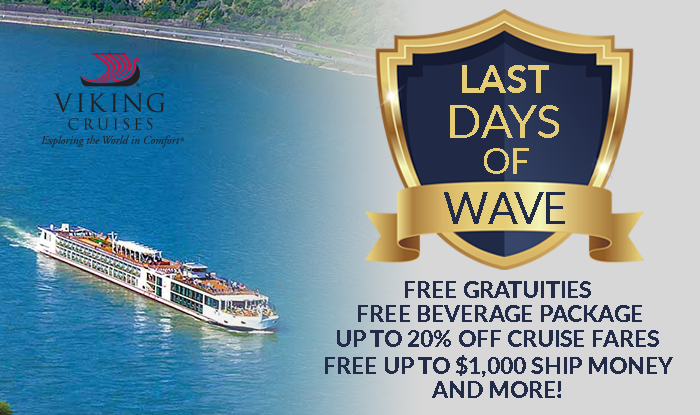 Viking Cruises Last Day of Wave Sale!
